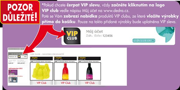 VIP club - důležité